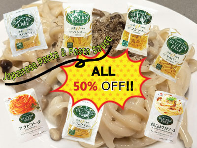Monthly SALE in September 2018 -Healthy Japanese Pasta & Sauces are 50%OFF!!-