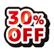 30%off red