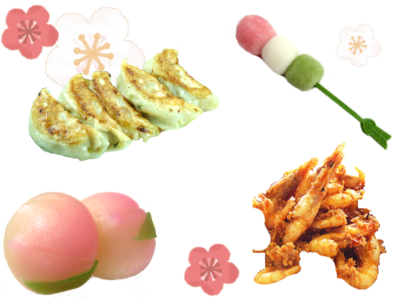 Hinamatsuri SALE -Feeling the visit of spring from Japan♪Gyoza is also on sale!-
