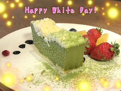 "White Day ☆""Matcha Cheese Cake"" for the return of Valentine gift☆"