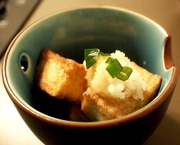 Agedashi Tofu (Fried Tofu with Kombu Tsuyu)