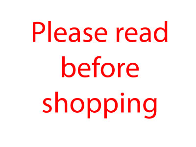 Please read before shopping