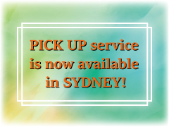 PICK UP service is now also available in Sydney!