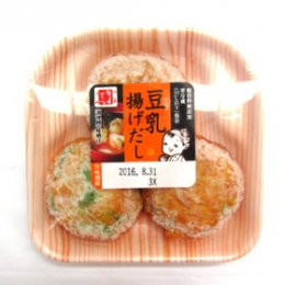Kanetetsu Delica Foods Tonyu Age Dashi (Fish Cake with Soy Milk) 50gx3p