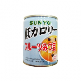 Sunyo Low Calorie Fruits Mitsumame (Mixed Fruits with Agar Jelly & Beans) Can 230g