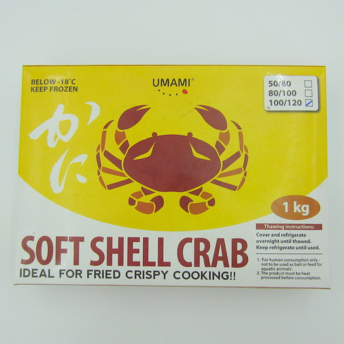 UMAMI Soft Shell Crab 100/120 1kg