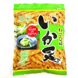 Daiko Ika Ten Wasabi Aji (Squid Snacks with Wasabi Taste) 180g