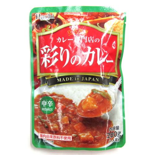Hachi Irodori no Curry Chukara (Med Hot Curry) in Pouch 200g