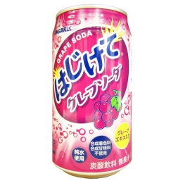 350mlx1can Sangaria Hajikete Grape Soda
