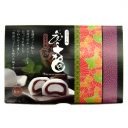 Tonyu Cream Daifuku(Non-Glutinous Rice Cakes with Soy Milk Cream & Red Bean Paste) 40gx6p