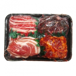Yakiniku BBQ Sliced Meat Set(Pork Belly/Kalbi/Beef Bulgogi/Oyster Blade) 600g