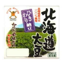 Hiruzen Hokkaido Hikiwari Natto (Japanese Coarsely Ground Natto) 49.5gx2pkts