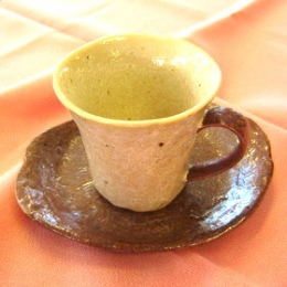 Ameyuu Coffee Cup & Dish Set(Japanese Mino Pottery)