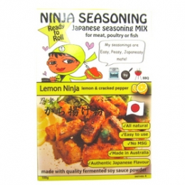 Saori Lemon Ninja - Lemon & Cracked Pepper Seasoning for Karaage 100g