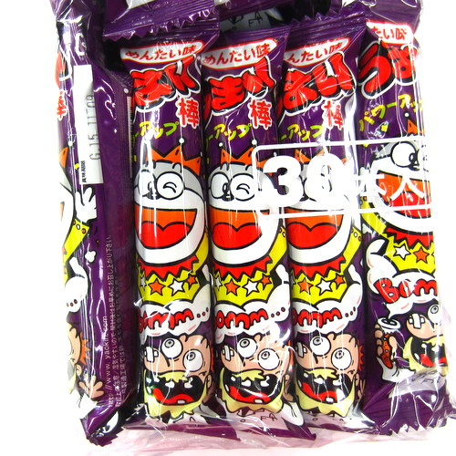 Umaibou Mentai Aji (Corn Snack Stick with Mentaiko Flavour) 6gx30p