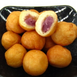 Tonyu Soy Milk Donuts Balls with Purple Sweet Potatos 1kg(105-110p)