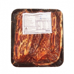 Marinated Beef Kalbi(Sparerib Slices) with Bones for Yakiniku 300g