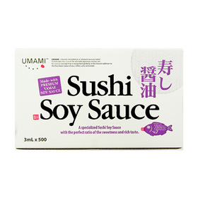 UMAMI Sushi Soy Sauce Fish Shape 3ml x 500pcs