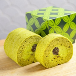 Premium Matcha (Green Tea) Roll Cake 300g