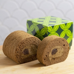 Premium Hojicha (Roasted Green Tea) roll cake 300g