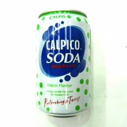Calpico Soda MELON Flavour 320ml x 24cans