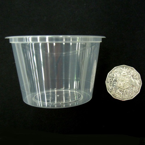 Round Plastic Container (BASE) 100ml x 50p