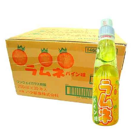 Hata Ramune Pineapple 200mlx30 bottles