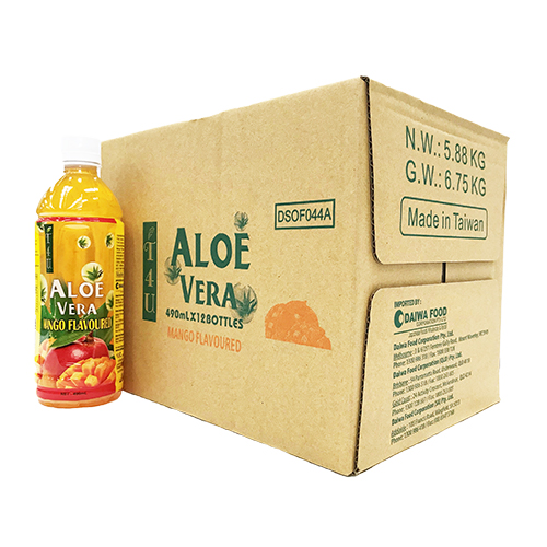 T4U Aloe Vera Mango Juice 490ml x 12 bottles