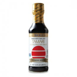 San-J White Gluten Free Reduced Salt Tamari (Soy Sause) 296ml