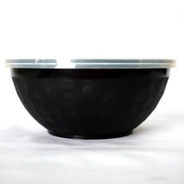 Donburi Bowl Black 1050ml (Base + Lids) 50p sets