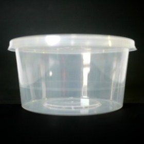 Round Plastic Container 440ml (Base + Lids) 50 sets