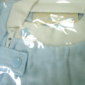 Pyjamas with short sleeves and front zipper Blue