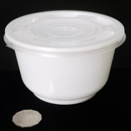 Donburi Bowl White 850ml (Base + Lids) 50 sets