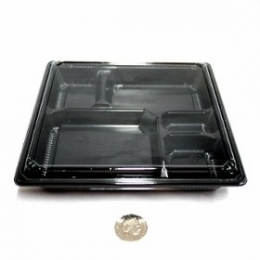 Bento Box 207 Black Shokado SQ (Base + Lids) 100 sets