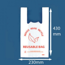 Carry Bag Reusable Small 40um 100pcs